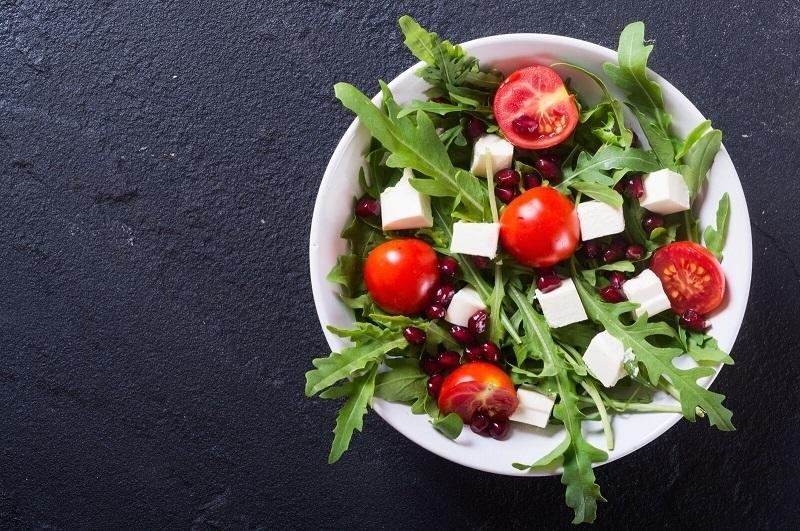 Gemischter Salat mit Feta Käse
