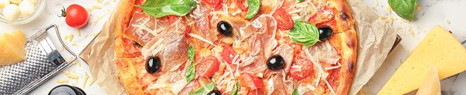 Pizza mit Fleisch