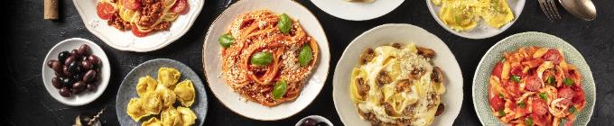 Frische original-italienische Paste