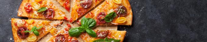 Steinofen-Pizza