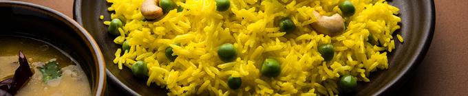 Spezialitäten mit gebratenem Reis