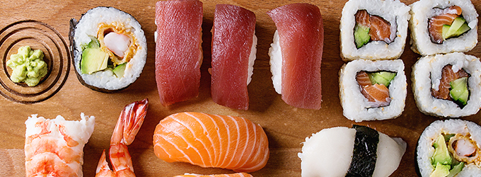 Nigiri-Sushi Lachs slide image