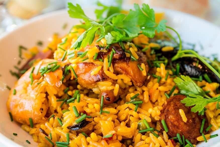 Gebratene Reis-Gerichte
